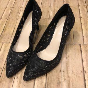 Black bling high heels